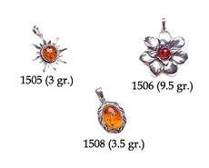 Amber & Silver Pendants Pag.05