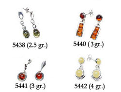 Amber & Silver Earrings Pag.06