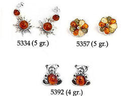 Amber & Silver Earrings Pag.05