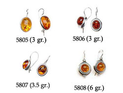 Amber & Silver Earrings Pag.13