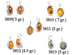 Amber & Silver Earrings Pag.14