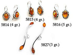 Amber & Silver Earrings Pag.15