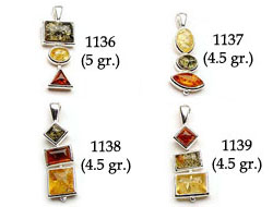 Amber & Silver Pendants Pag.02