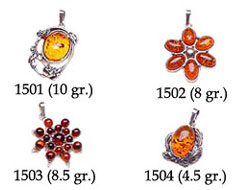 Amber & Silver Pendants Pag.04